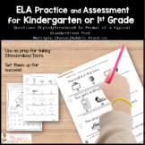 Kindergarten ELA and Math Standardized Test Practice