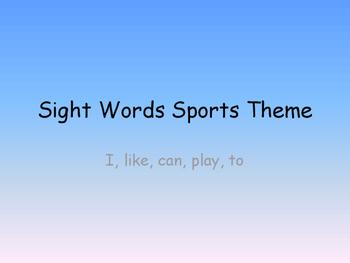 Kindergarten/ ESl Sight word sentences with pictures