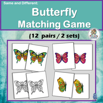 Visual Discrimination Butterfly Match-up Game for PreK & K
