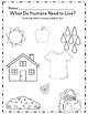Kindergarten Emergency Sub Plan Activity Set *NO PREP*