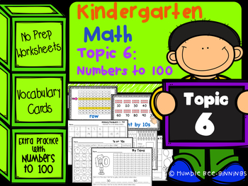 Kindergarten Math - Topic 6: Numbers to 100