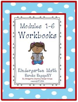 Kindergarten Eureka EngageNY Modules 1-6 Workbooks (Copyin