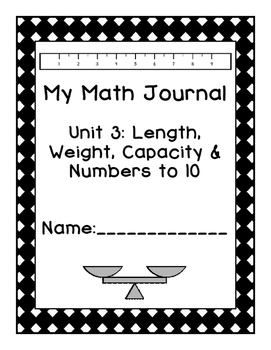 Kindergarten Eureka Math Journal Unit 3