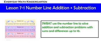 Kindergarten Everyday Math Lesson 7.1
