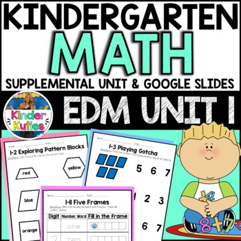 Kindergarten Everyday Math Unit 1 Worksheet & Vocabulary B