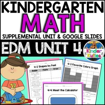 Kindergarten Everyday Math Unit 4 Worksheet & Vocabulary B