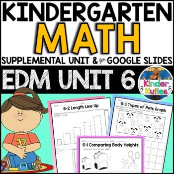 Kindergarten Everyday Math Unit 6 Worksheet & Vocabulary B