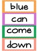 Kindergarten Exit Sight Word List- Large