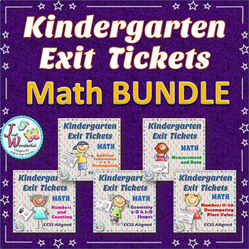 Kindergarten Exit Tickets - MATH BUNDLE