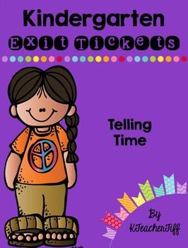 Kindergarten Exit Tickets: Telling Time