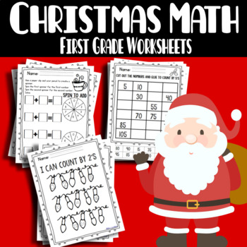Primary Holiday Math Review - skip counting, even/odd, mor