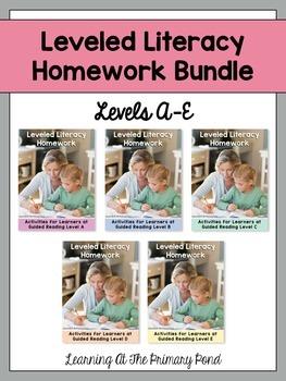 Kindergarten Homework - Reading BUNDLE {for Guided Reading