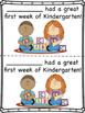 Kindergarten First Week Certificates