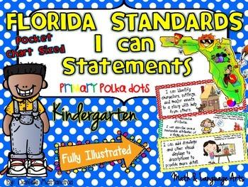 Kindergarten Florida LAFS & MAFS I Can Statements {Primary