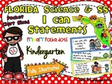 Kindergarten Florida Science & SS I Can Statements {Primar