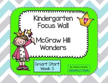 Kindergarten Focus Wall McGraw Hill Wonders Smart Start Week 3