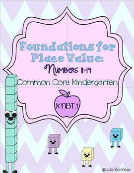 Kindergarten Foundations for Place Value:  #'s 11-19- Comm
