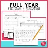 Kindergarten Full Year Assessment Kit Based on Common Core