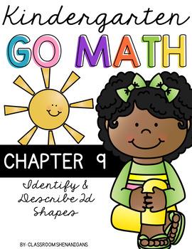 Kindergarten GO MATH Tabbed Flip Book {Chapter 9-Identify