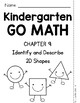 Kindergarten GO MATH Tabbed Flip Book {Chapter 9} SAMPLE F
