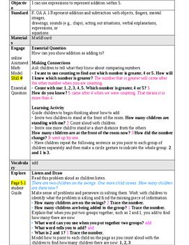 Kindergarten GoMath Chapter 5 lessons