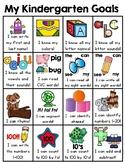 Kindergarten Goals Homework Insert (Kindergarten Common Co
