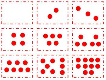 Kindergarten Got Dots Cards for Math Common Core, Subitizi