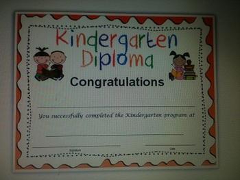 Kindergarten Grad Diploma