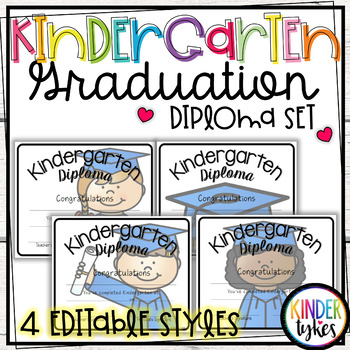 Kindergarten Graduation Diploma Set
