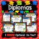 EDITABLE Kindergarten Graduation Diplomas and Ceremony Kit
