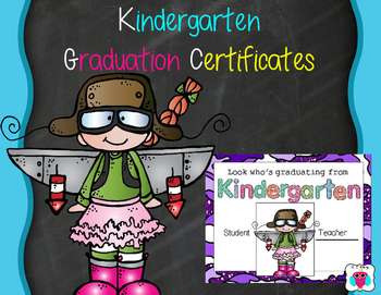 Kindergarten Graduation Fun Certificates