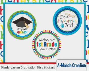 Kindergarten Graduation Printable Kiss Stickers