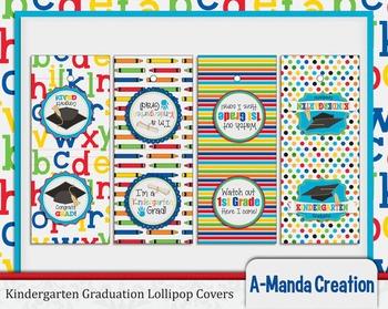 Kindergarten Graduation Printable Lollipop Covers