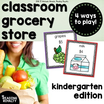 Kindergarten Grocery Store: Identifying Money, Addition, a