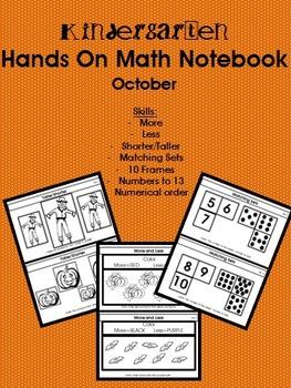 Kindergarten Hands On Math Notebook- October