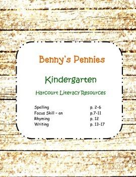 Kindergarten Harcourt Literacy Resource Benny's Pennies