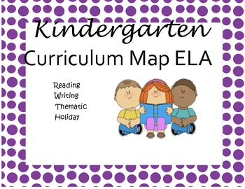 Kindergarten Harcourt Trophies ELA Common Core Curriculum Map