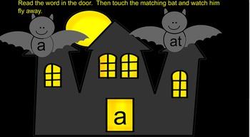 Kindergarten Haunted House and Bat Sight Words