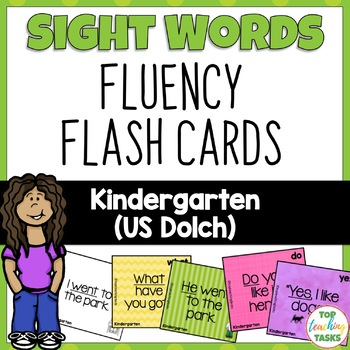 52 Kindergarten Sight Word (Dolch) Flash Cards