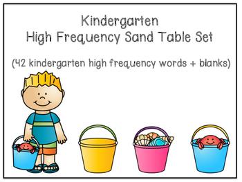 Kindergarten High Frequency Word Sand Table Set