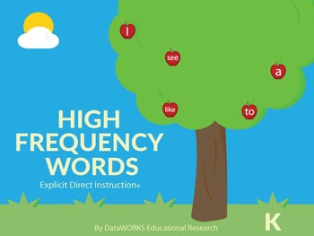 Kindergarten High-Frequency Words - FULL YEAR of WORDS