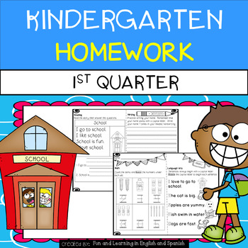 Kindergarten Homework - 1st Quarter