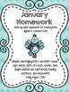 Kindergarten Homework Packet - BUNDLE! - English and Spani