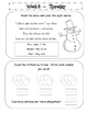 Kindergarten Homework Packet January *Common Core*