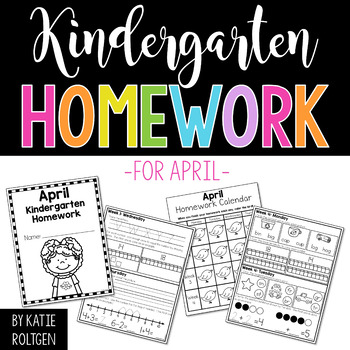 Kindergarten Homework for April