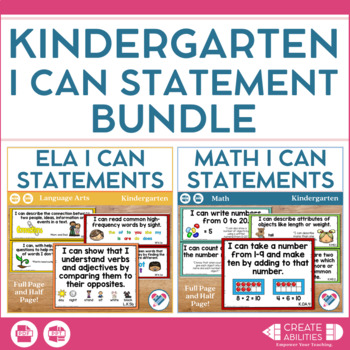 Kindergarten I Can Statements Bundle