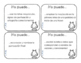Kindergarten I Can Statements (language arts and math) in