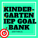 Kindergarten IEP Goal Bank (editable)