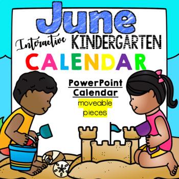 Kindergarten Interactive Calendar (JUNE) - for Promethean