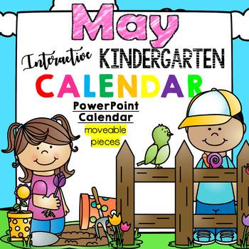 Kindergarten Interactive Calendar (MAY) - for Promethean A